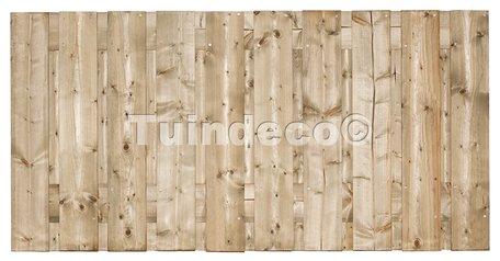 Tuinscherm 19 planks Dordrecht 90x180cm