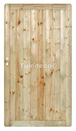 Tuindeur Heerenveen met RVS slot H180xB100cm