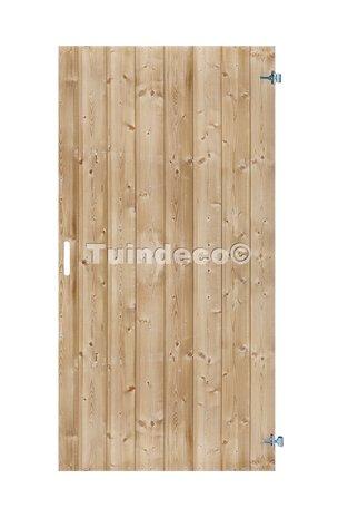 Tuindeur Schoorl met RVS slot Voorzien van ijzeren frame H200xB100cm