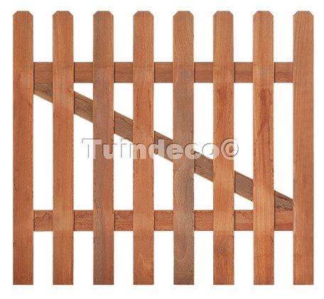Tuinhekdeur hardhout recht H60xB100cm