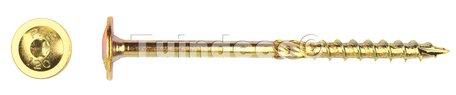 Flenskopschroef geelverzonken 8.0x160mm Torx