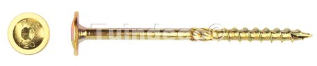 Flenskopschroef geelverzonken 8.0x180mm Torx