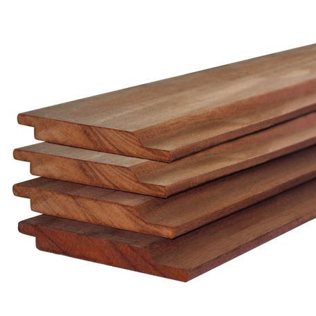 Hardhout rabatdelen halfhouts 1.6x14.0x400cm geschaafd