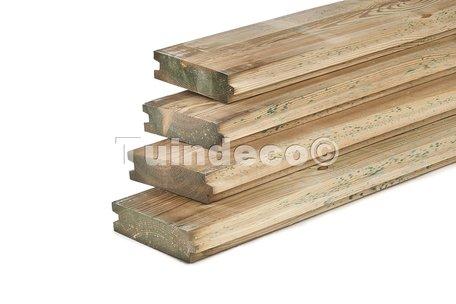 Damwand Geïmpregneerd D4x300cm (Per stuk, 0.51m2 per plank)