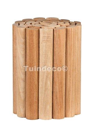 Rolborder hardhout 30.0x180cm ½ Ø5cm