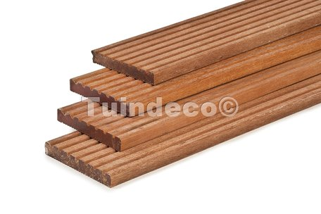 Hardhouten vlonderplank 2.1x14.5x400cm