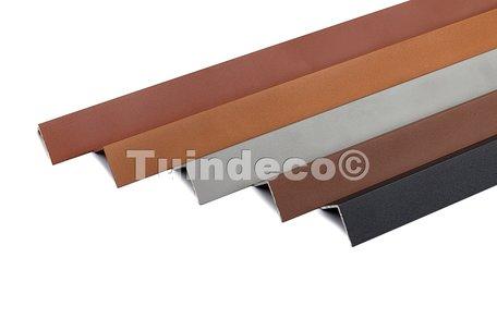 Aluminium hoekplint 3.8x3.8x220cm oud grijs