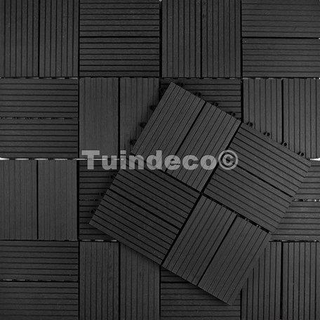 Tuindeco Premium WPC Tuintegel Antraciet 30x30cm