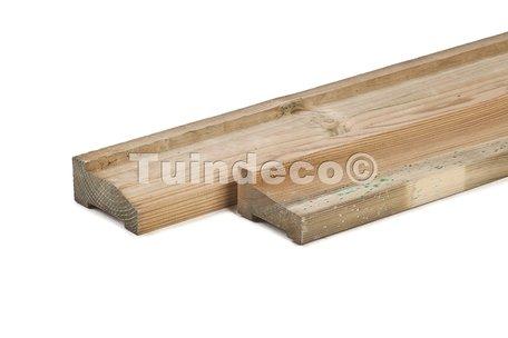 Funderingsbalk geïmpreg. standaard 4.5x9.0x300cm, met afwatering