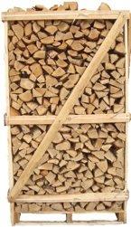 Eikenhout gestapeld op een pallet met een inhoud van 2m³